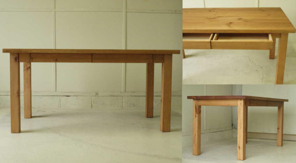 ダイニングテーブル002(組立式)引出付150×73×80¥51,800