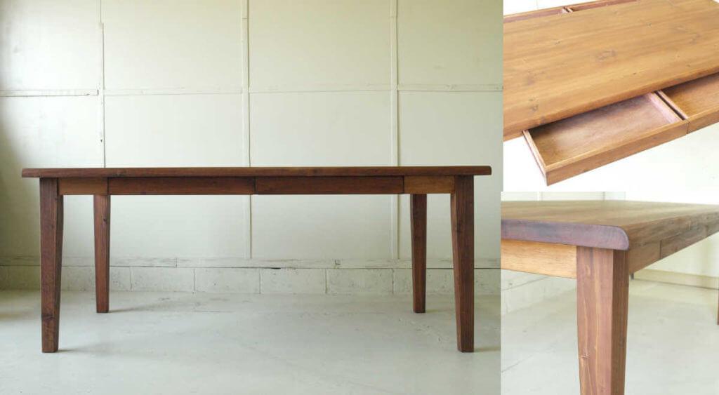 ダイニングテーブル024(組立式)引出付180×73×80¥56,800