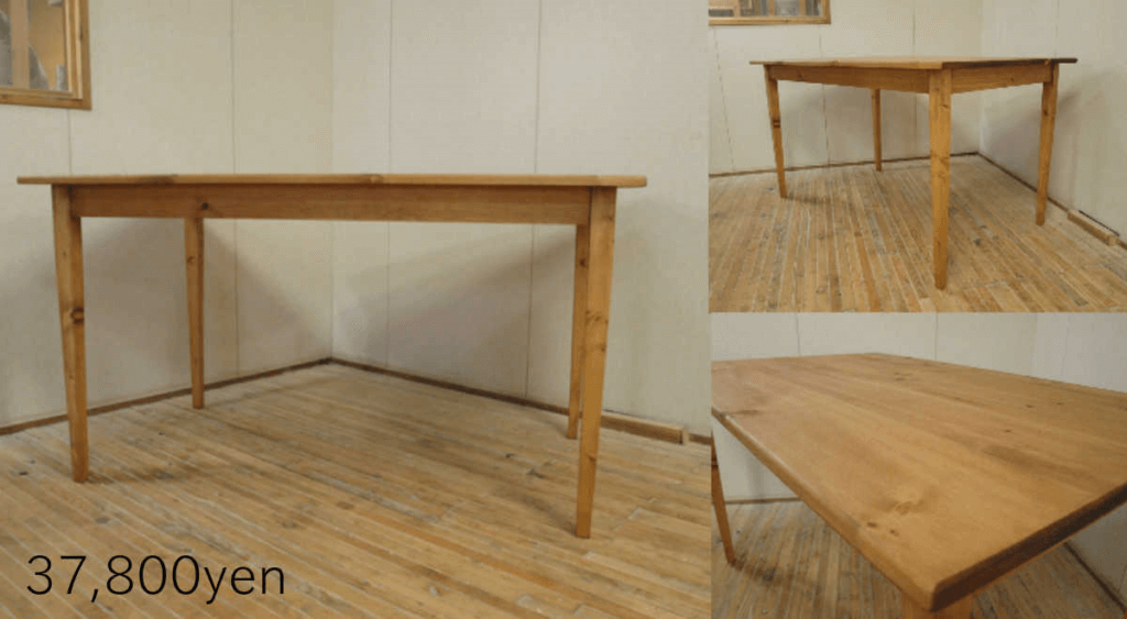 無垢家具ダイニングテーブル003