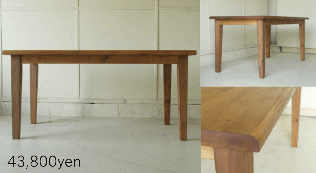 無垢家具ダイニングテーブル004
