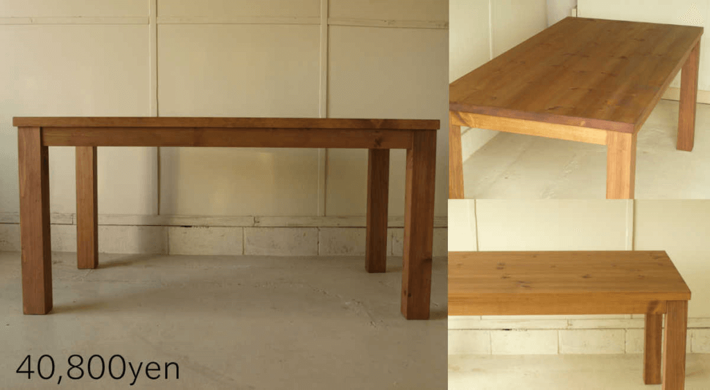 無垢家具ダイニングテーブル011