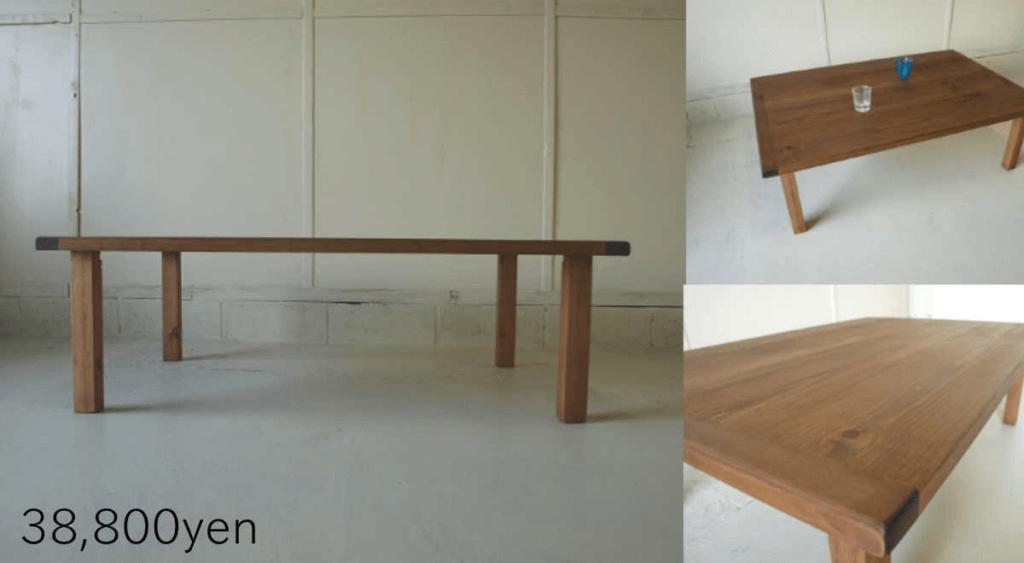 無垢家具リビングテーブル001