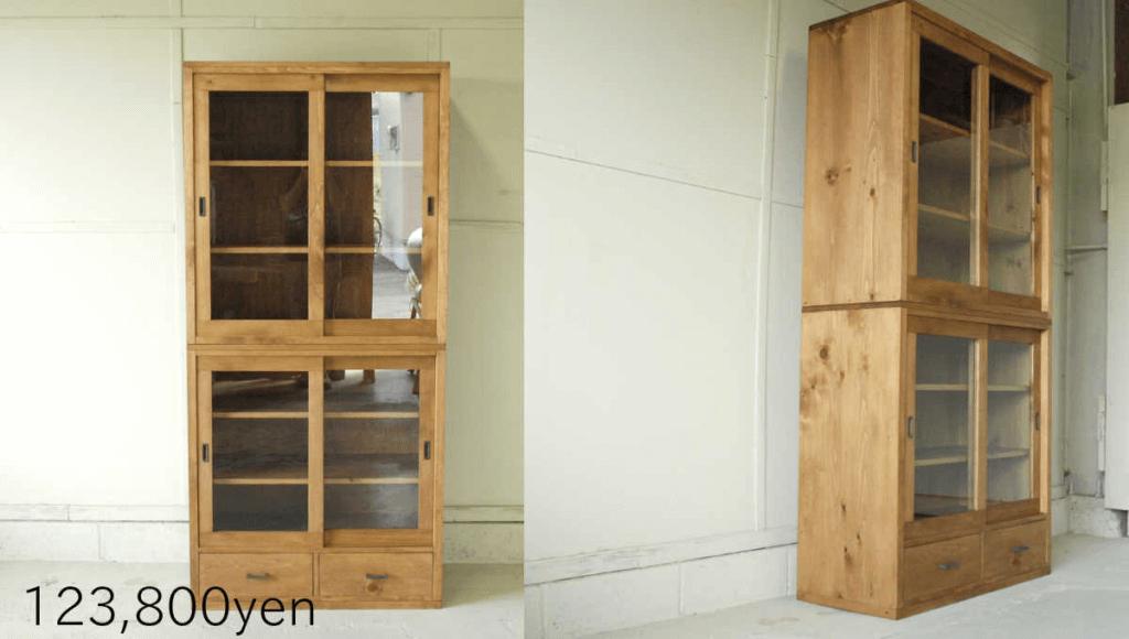 無垢家具食器棚003