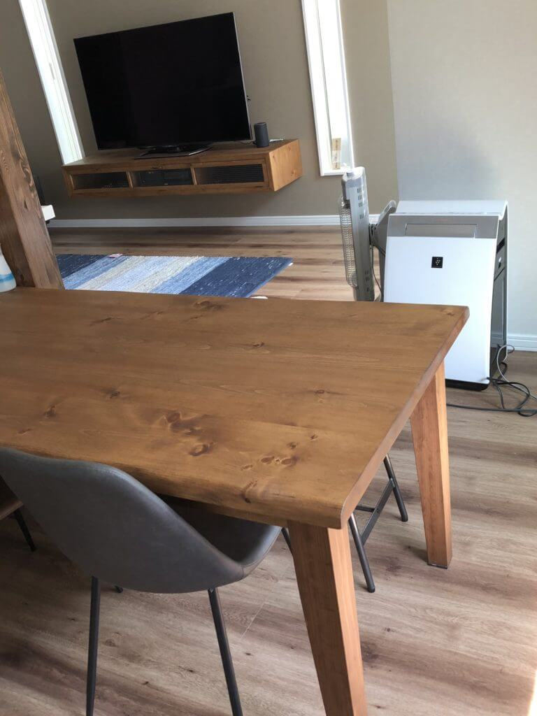 壁付けテレビボード テーブル