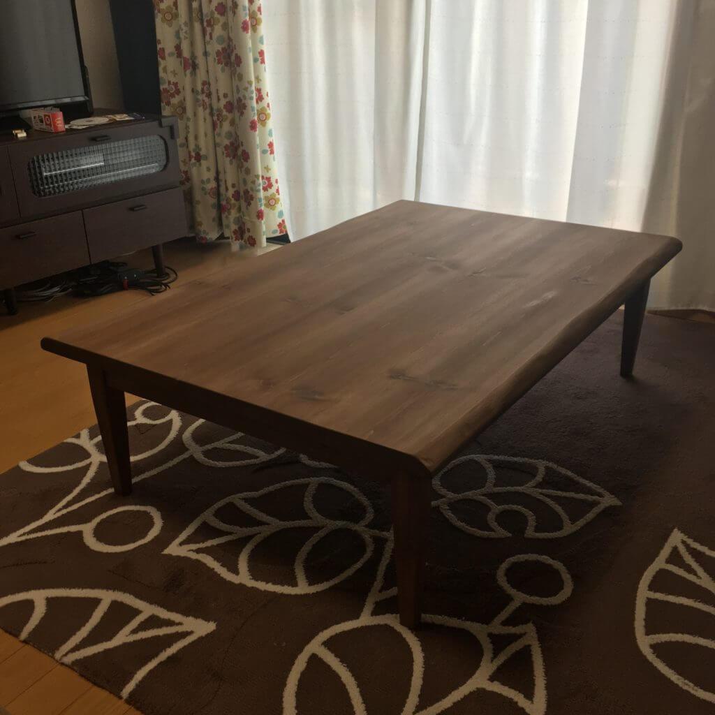 家具設置写真リビングテーブル