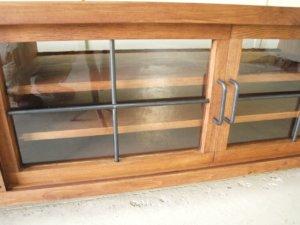 テレビボードガラス扉