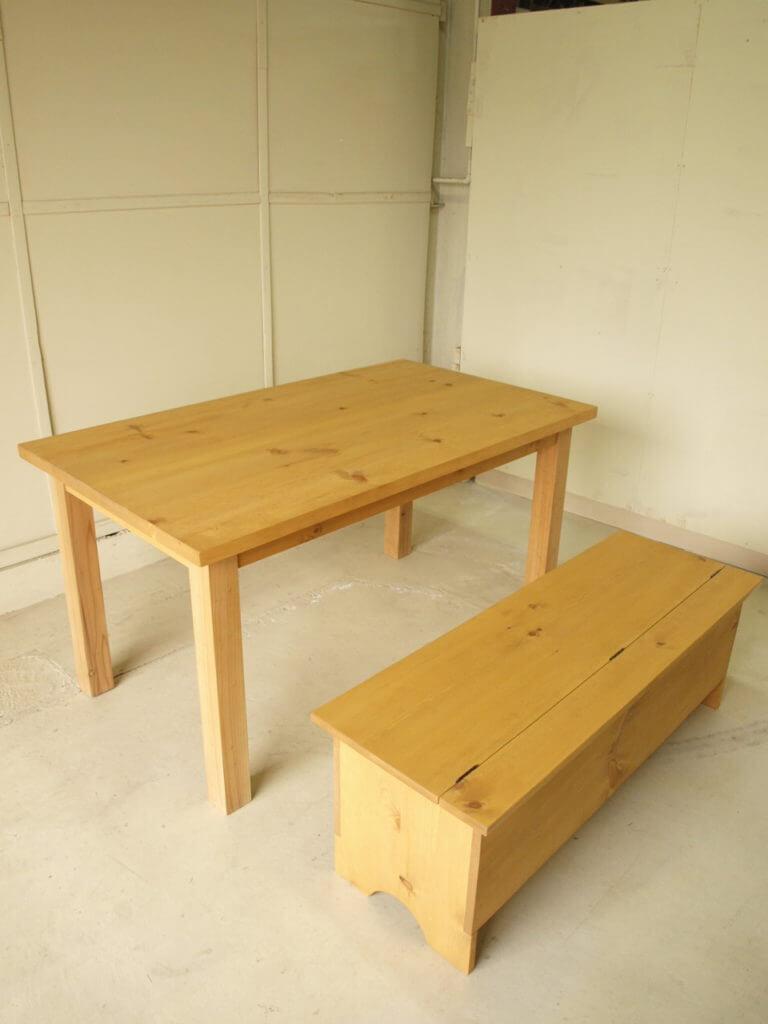 ダイニングテーブル ストレージベンチ