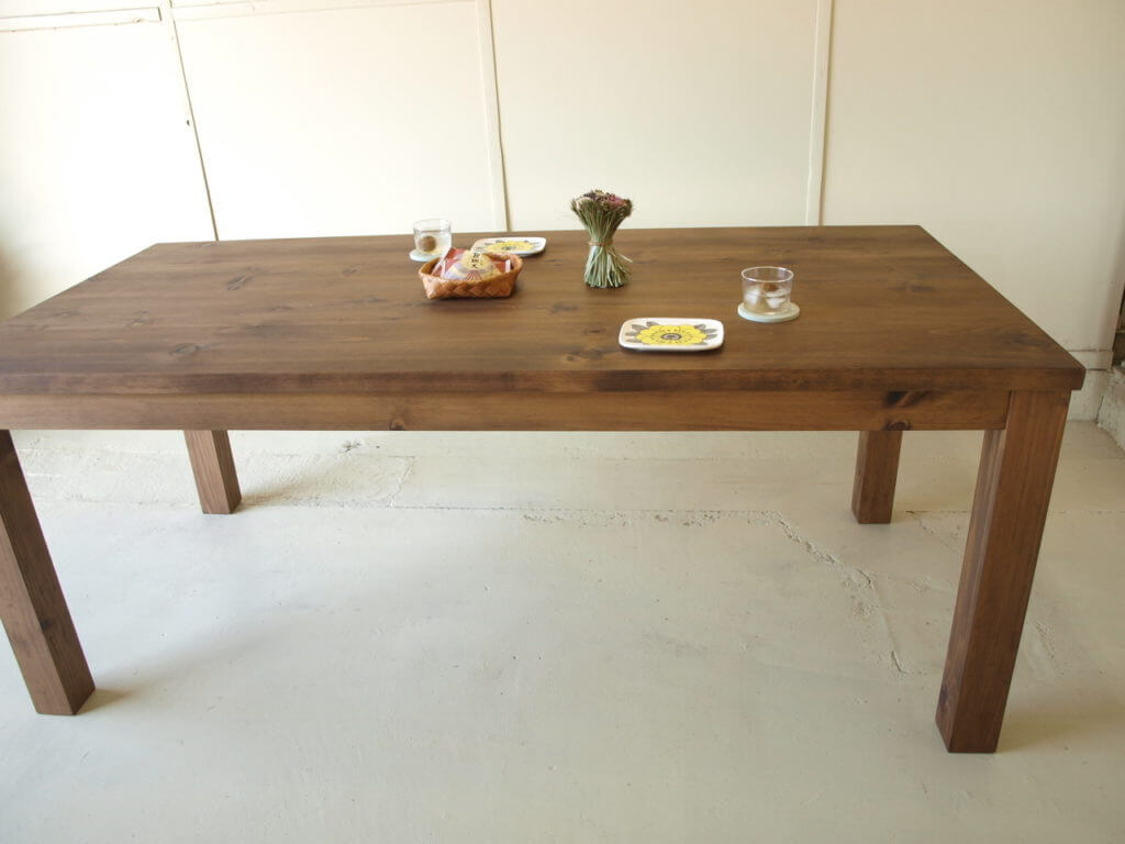 無垢家具ダイニングテーブル012