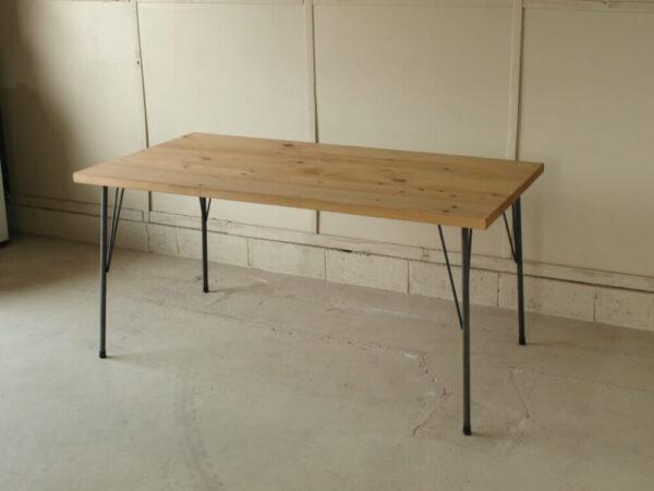 無垢ダイニングテーブルアイアン001