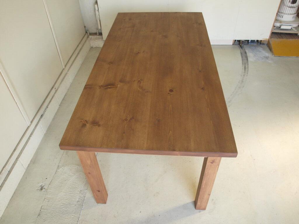 ダイニングテーブル026引出無垢