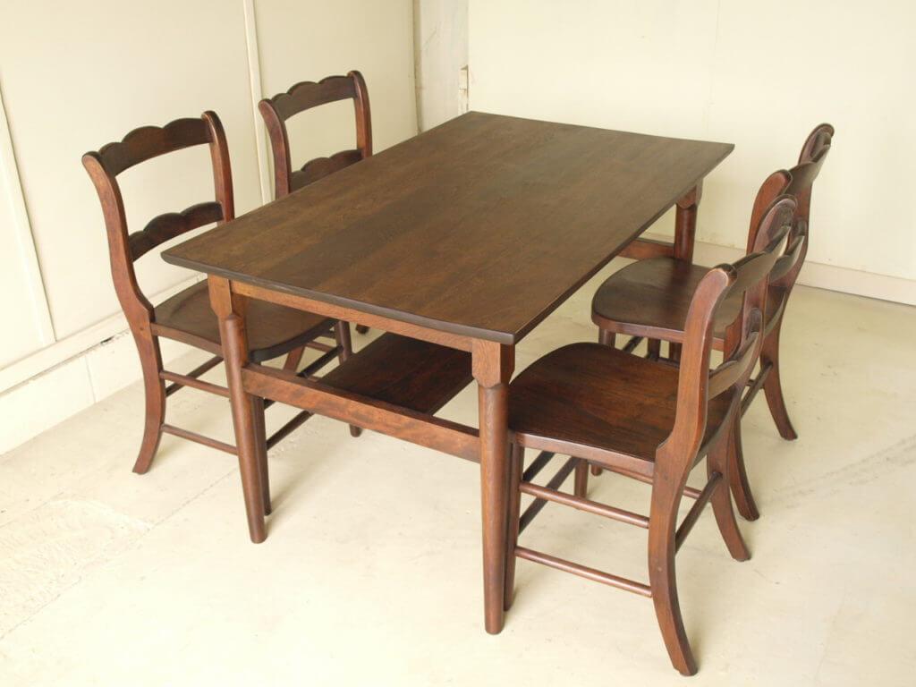 無垢家具リペアテーブルセット