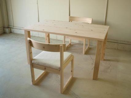 テーブルセット桧