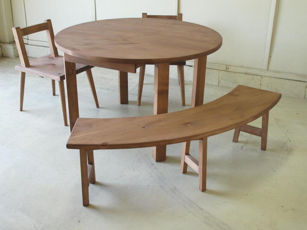 半円ベンチテーブルセット
