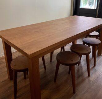 お客様から家具設置写真を頂きました。テーブルスツール棚ベンチ